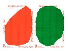 Exposition Benjamin Desoche on Behance Graphic Design Posters, Graphic Design Typography, Graphic Design Illustration, Graphic Design Inspiration, Branding Design, Ästhetisches Design, Cover Design, Book Design, Layout Design