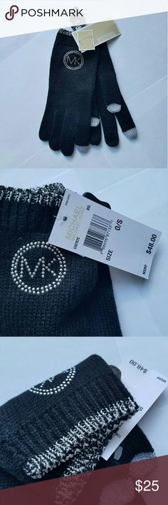 NWT Authentic Michael Kors gloves Authentic Michael Kors gloves. Tech gloves! Black with silver details  Simple chic and elegant   New with tag! $48 tag price Fall 2017 collection  P.S. check my closet for more MK scarves, gloves and hats Michael Kors Accessories Gloves & Mittens