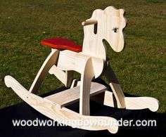 Rocking Horse Andy free plans to build from WoodworkingDownUnder.com