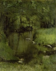 Fernand Khnopff - The stream near Fosset - 1897 #art #inspiration #painting