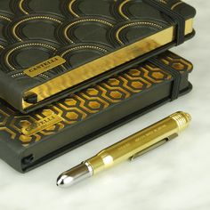 Castelli and Midori: glamorous writing companions. Journalling, Gold Style, Notebooks, Planners, Style Fashion, Stationery, Sketch, Classy, Glamour