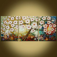 Oil Painting 3 Panel 3 Piece Canvas Cuadros decoracion Wall Art Picture Modern Abstract Home Decor Living Room 01