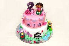 Dora the Explorer cake by Sweet Bakery & Cakery, Wellington NZ (www.sweetbakery.co.nz)