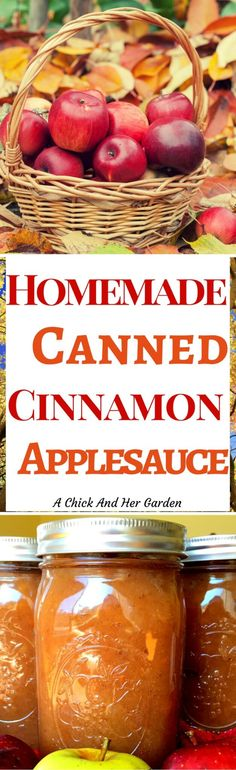 What could be better than homemade applesauce?? Home canned Cinnamon Applesauce! On top of that, see how I sweeten it without sugar!