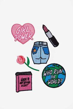 Local Heroes Girl Power Patch Pack - Pins + Patches