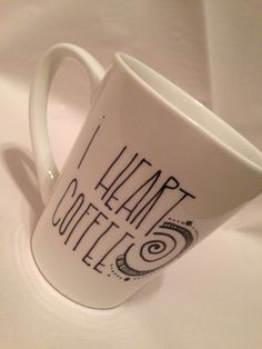 I heart coffee. Live an intentional life by FreeSpiritLoveShop, $22.00