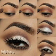 How To Create A Perfect Cut Crease – Makeup Mastery Smoke Eye Makeup, Makeup Eye Looks, Eye Makeup Steps, Glitter Eye Makeup, Beautiful Eye Makeup, Makeup For Green Eyes, Love Makeup, Makeup Inspo, Eyeshadow Makeup