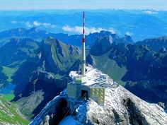 Säntis    To see Switzerland, Germany, Austria, Liechtenstein, France and Italy all at the same time – this can be accomplished from the 2,502-meter-high Säntis. The highest mountain of the Alpstein region.