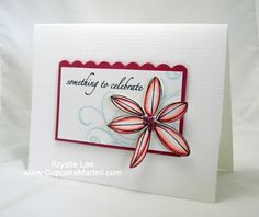 handmade card from Clean and Simple Cards ... matted sentiment with the top part scalloped ... .