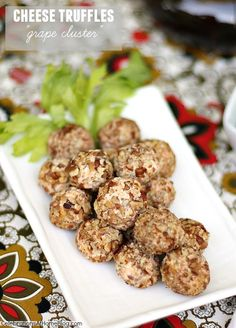 "Cheese Ball Recipe: ""Grape Cluster"" Cheese Truffles - Celebrations at Home"