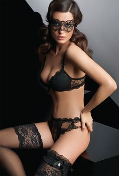 The Lace Jewelry Collection by Lise Charmel. Modeled by Catrinel Menghia.   http://www.cazar.de/push-up-bh-70-dschwarz-aca8103.z00.208..html?listtype=list