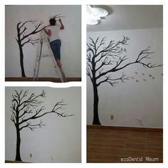 Fotos de dibujos para la pared imagui decoraci n de - Paredes con dibujos ...