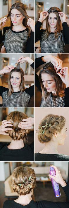diy twisted braid crown wedding hairstyles