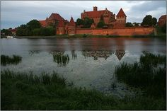 Malbork Castle in Poland. A place to visit with kids and if you enjoy amber, gorgeous pottery, toy soldiers and silly knights