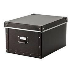 FJÄLLA Box with lid - brown - IKEA