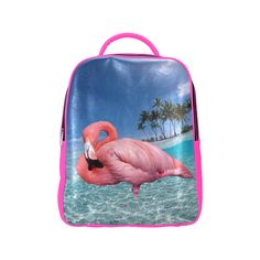 Flamingo and Palms Popular Backpack. #FREEShipping #artsadd #lbackpacks #flamingos