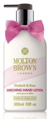 Molton Brown Rhubarb & Rose Hand Lotion/10 oz. - Rhubarb extract to keep hands healthy. Rose extract to help moisturize. Aromas of zesty yuzu, grapefruit and mandarin. Vivacious. Fizzy. Tempting. #beauty #handcream