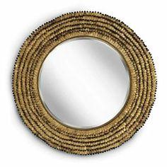 Regina Andrew Design 5-568 Gold Leafed Round Beveled Petal Mirror RAD-5-568  31 diam