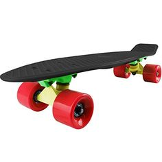 Standard Skateboards - Cal 7 Mini Cruiser Skateboard Complete 22 Inch Standard Retro Style Plastic Board *** You can get additional details at the image link.