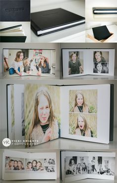 featuring each child/person/animal  Beautiful fine art album from a family photo session | Vicki Knights Photography