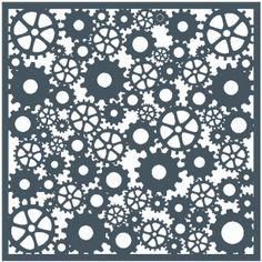 Silhouette Online Store - View Design #42972: cogs & gears template / background / stencil