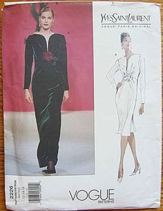 Vogue 2226 Pattern UNCUT Yves Saint Laurent Dress by ecoquilter
