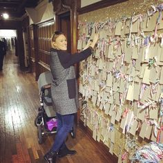 Added #myliberty wish on @libertylondon wall today - having a baby you don't really want much for yourself, but I asked for world peace, a full nights sleep and some Miu Miu Pom Pom shoes! #libertywish #textsanta  Thanks @shaktimomma