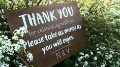 Shop for on Etsy, the place to express your creativity through the buying and selling of handmade and vintage goods. Wedding Thank You, Wedding Signs, Wedding Events, Wedding Reception, Thank You Sign, Wooden Signs, Wedding Photos, My Etsy Shop, Rustic