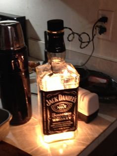 Crystal Skull Empty Liquor Bottle Repurposed Into A Container Made