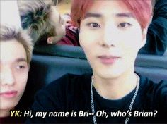 """bryankang: """"""""When you forget your own stage name."""""""""""