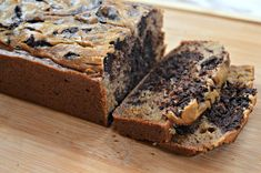 Chocolate Marbled Banana Bread made with Otto's Naturals Cassava Flour (grain-free and dairy-free) | Food By Katie