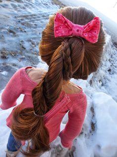 American Girl Place: Braided Rope Braid ~ A Hair Tutorial