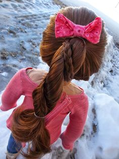 American Girl Place: Braided Rope Braid ~ A Hair Tutorial