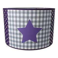 / hartjes lamp in paars en grijs Leuk voor de meisjes babykamer ...
