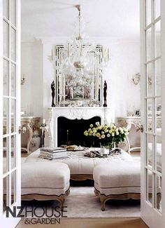 White French Living Room