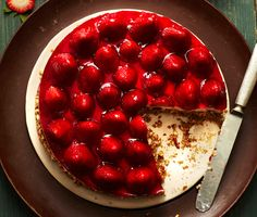Retro Strawberries-and-Cream Pretzel Tart Recipe  | Epicurious.com