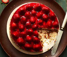 Retro Strawberries-and-Cream Pretzel Tart Recipe  | Epicurious.com