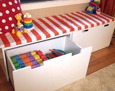 Play Room Bench Cushion / Ikea / Kallax / Stuva / Expedit / Toy Shelf