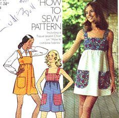Vintage 1970s Summer Dress Pattern Simplicity 5511 by kandiieee