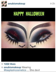 Awesome Halloween makeup from Anubismakeup on Instagram