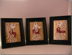 Love these Christmas frames!