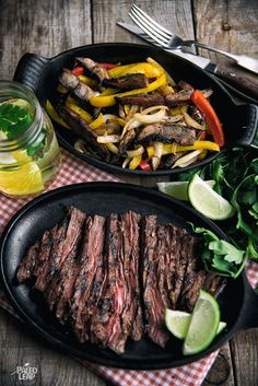 Grilled steak with spicy pan-fried vegetables - an easy, no-fuss meal that also makes delicious leftovers.