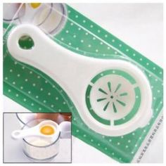 Brand New White Useful Kitchen Tool Egg Separator Holder Sieve Funny Divider Colander Small Space Kitchen, Kitchen On A Budget, Diy Kitchen, Kitchen Tools, Kitchen Ideas, Plastic Eggs, Kitchen Helper, Kitchen Supplies, Cool Gadgets