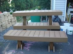 Make Benches from Scrap Composite Decking