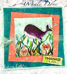 Making the most of your DSP, Tips and Ideas - Stamping Bees Sea Side, Bees, Whale, Stamping, Clever, Thankful, Cards, How To Make, Whales