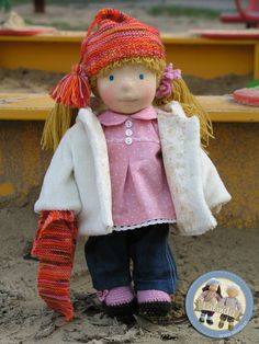 Cornelia - waldorf inspired cloth doll by Lalinda.pl