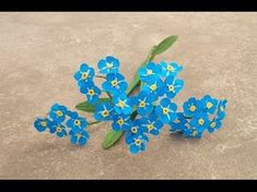 How To Make Forget Me Not Paper Flower - Craft Tutorial - YouTube