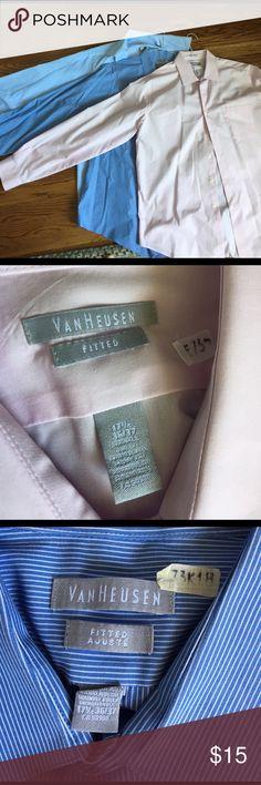 Van Heusen Shirt Bundle EUC; size 36/37 Van Heusen Shirts Dress Shirts
