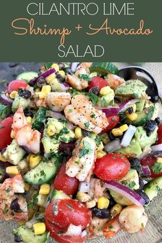 Lime Shrimp and Avocado Salad - a salad packed full of vegetables that Cilantro Lime Shrimp and Avocado Salad - a salad packed full of vegetables that . Cilantro Lime Shrimp and Avocado Salad - a salad packed full of vegetables that . Seafood Dishes, Seafood Recipes, Mexican Food Recipes, Diet Recipes, Cooking Recipes, Healthy Recipes, Avocado Recipes, Recipies, Seafood Soup
