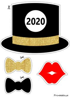 Photo booth props: New Years Eve 2020